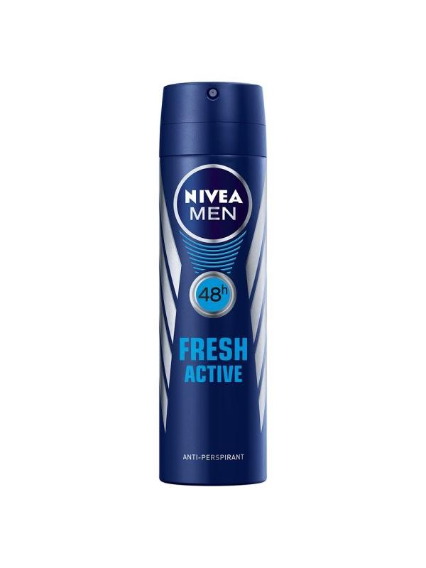 NIVEA DEO MEN FRESH ACTIVE POWDER-FREE 150ML.