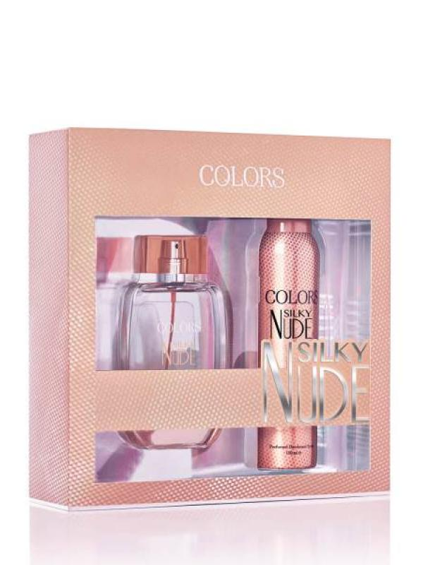 REBUL SET EDT+DEO COLORS SILKY NUDE BYN