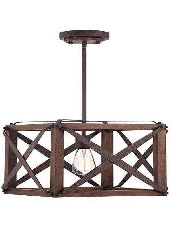 Cube Wooden Lamp