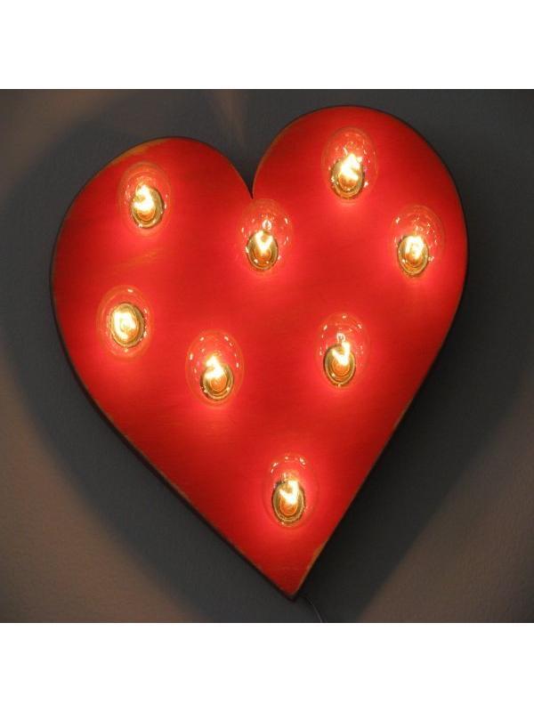 Red Heart Wall light