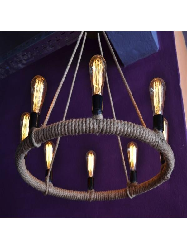 Rope Circle Chandelier