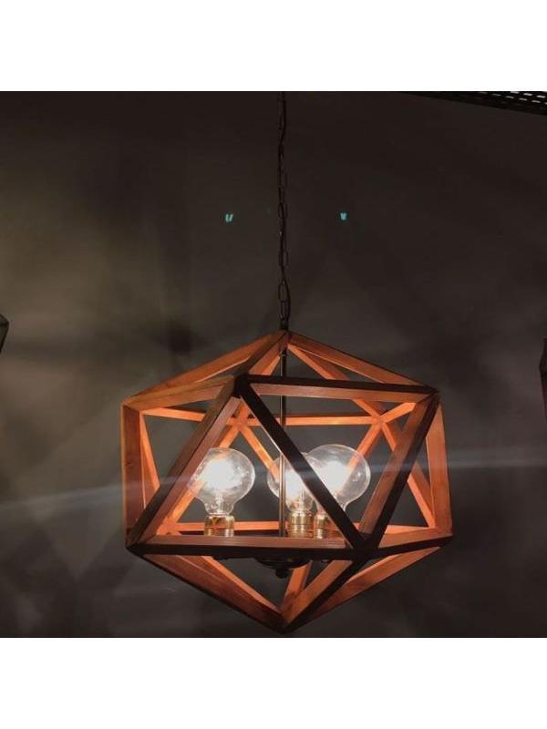 Icosahedron Ahsap avize