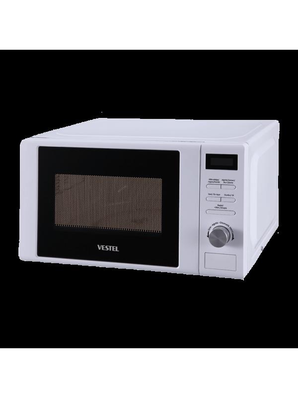 Vestel 20 lt, Digital, White, 700W Microwave Cooking Power