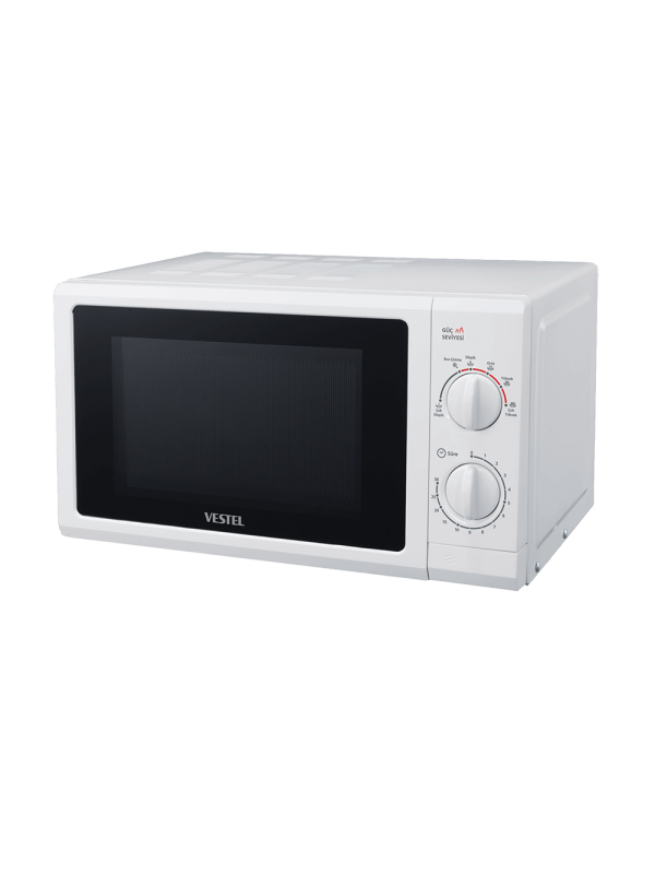 Vestel 20 lt, Mechanical, White, 700W Microwave Cooking Power