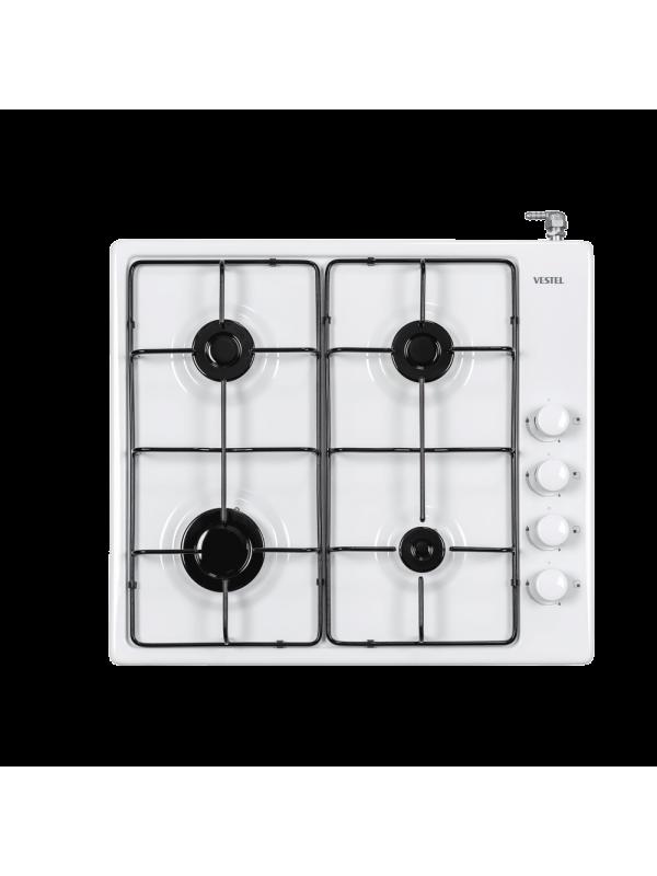 Vestel 4GG, White Enamel Cooker